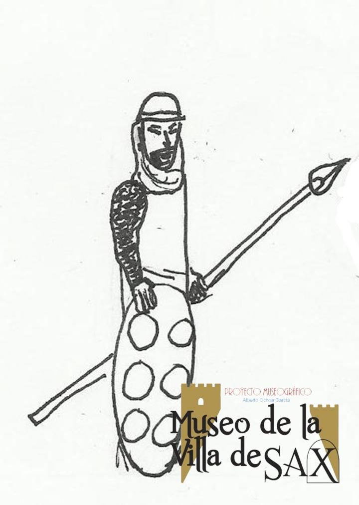 Dibujo inspirado en Artal de Alagón para la escenografía del Museo de la Villa de Sax