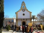 El reloj y la ermita de Santa Eulalia en el año 2011