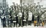 La Sociedad Unión Musical y Artística de Sax al poco de llegar Villar (Archivo de la Sociedad Unión Musical y Artística de Sax)