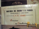 """Cartel de publicidad de Industria del Hierro y la Madera en la exposición """"Made in Alicante"""""""