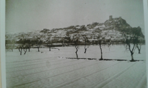 Nevada del año 1926 en Sax. Colección de Tomás Gil Torreblanca. Asamblea Local de Cruz Roja Sax