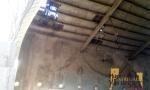 Techumbre del teatro Cervantes de la Colonia de Santa Eulalia