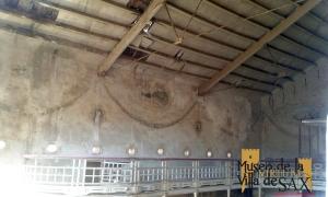 Estado de conservación de los palcos y pinturas del teatro Cervantes de la Colonia de Santa Eulalia